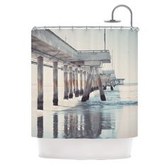 The Pier by Nastasia Cook Shower Curtain