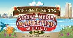 Win Free Tickets to Social Media Marketing World 2017 http://www.socialmediaexaminer.com/win-free-tickets-social-media-marketing-world-2017?utm_source=rss&utm_medium=Friendly Connect&utm_campaign=RSS @smexaminer