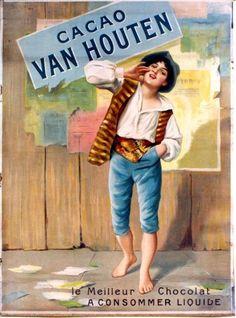 Cacao Van Houten - circa 1900 vintage poster