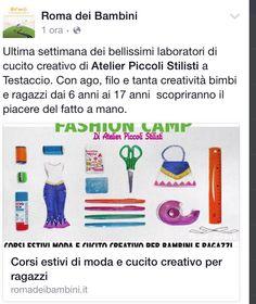 #FashionCamp #estate2015 #bambinidiroma #cucito #moda #piccolistilisti