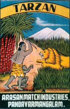 Probably the best illustrated version of Tarzan I've ever seen. If this was a cartoon I'd be addicted to it. Love the stylization, the fact that Tarzan is wearing a tiger skin skirt and a headband, that his monkey friend is clawing at the leaping lion catlike. Never mind that gorgeous lion and those sugar mountains in the background.