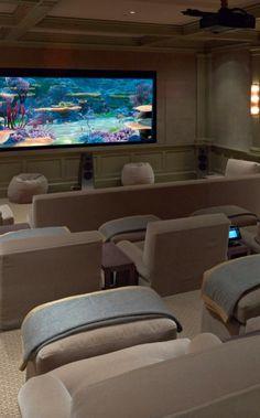 Home Cinema | I'd never leave home... | luxurydotCom | via Houzz #hometheater