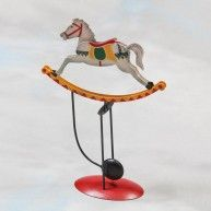 Vintage Retro Rocking Horse & Tin Plate Ornaments Smithers of Stamford Retro Gifts, Vintage Gifts, Retro Vintage, Vintage Decor, Vintage Style, Retro Furniture, Furniture Decor, Retro Bedrooms, Retro Birthday