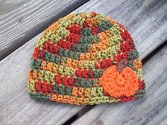 Little Pumpkin in Fall Crochet  Beanie Hat  by AngieHallHaviland, $10.00