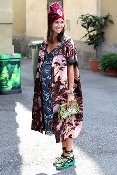 tres printy. Natasha in Milan. #NatashaGoldenberg
