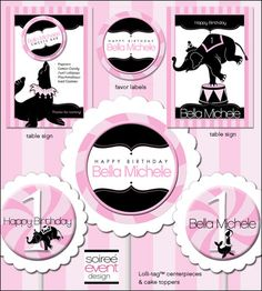"""Girly Circus!""© Printables Package from Soiree-EventDesignShop.com"