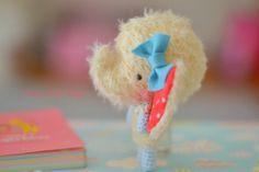 Amigurumi Elephant. Kawaii crocheted elephant. Mohair plushie blythe.