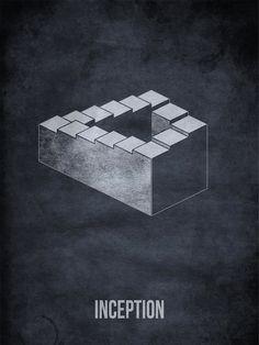 Inception - minimalist movie posters by Subhajyoti Ghosh.