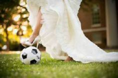 A special photo for my soccer loving husband! Wedding Quotes, Wedding Shoot, Wedding Pictures, Our Wedding, Dream Wedding, Quince Pictures, Prom Pictures, Football Wedding, My Perfect Wedding