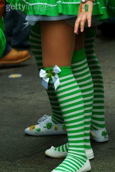 green/white stripe with bow socks @Alex Emmons