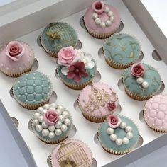 Decorative cupcakes.