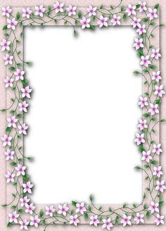 Delicate PNG Transparent Flower Frame
