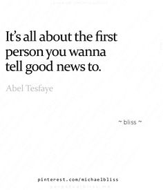 It's all about the first person you want to tell the good news to ❤️