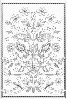 Scandinavian Coloring Book Pg 51