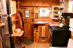 Welsh couple transform old vans into rustic campers with wood interiors Yes.