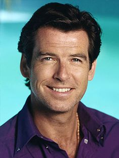 Another Bond! Pierce Brosnan in purple with a hint of chest hair. Holy....cow...I need to lie down....