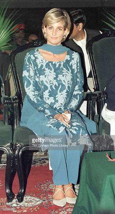 May 23, 1997: Diana, Princess of Wales visiting The Shaukat Khanum Memorial Hospital in Lahore, Pakistan.