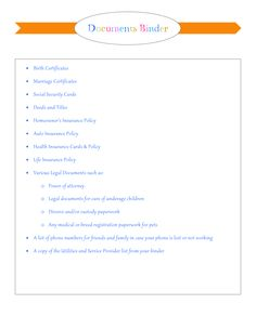 My Organized Home & Life: Binders