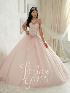 Quinceanera dresses and quinceanera decorations! Quinceanera dresses and accessories such as dolls and tiaras! Many quinceanera dresses to choose from. Sweet 16 Dresses, 15 Dresses, Fashion Dresses, Wedding Dresses, Tulle Ball Gown, Ball Gowns, Light Pink Quinceanera Dresses, Quinceanera Party, Quinceanera Decorations