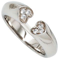 Damen Ring Herz Herzen offen 925 Sterling Silber 6 Zirkonia Silberring Gr.56 http://www.ebay.de/itm/Damen-Ring-Herz-Herzen-offen-925-Sterling-Silber-6-Zirkonia-Silberring-Gr-56-/162512407510?ssPageName=STRK:MESE:IT