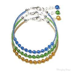 Capri blauwe Fern groene Topaz armbanden door whimsydaisydesigns