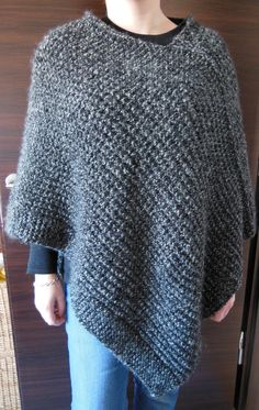 Poncho Knitting Patterns, Knitted Poncho, Poncho Tops, Knit Crochet, Pullover, Womens Fashion, Sweaters, France, Sweaters Knitted