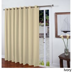 Ricardo Eden Insulated Linen-look Grommet Patio Panel (Grommet Patio Panel 112""