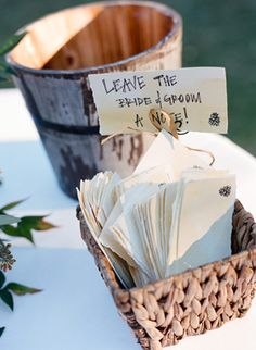 Leave the bride and groom a note!