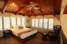 Resort Villa master bedroom - Musket Cove Island Resort, Fiji