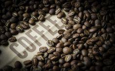 Descargar fondos de pantalla Café, granos de café, bebidas, frita de granos de café
