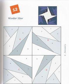 Paper piecing: star