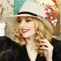 Summer fashion straw hat hatband decorative for women