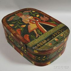 Kaufman Paint-decorated Wedding Box | Sale Number 2699M, Lot Number 767 | Skinner Auctioneers