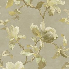 Magnolia Trail Wallpaper in Neutral design by Brewster Home Fashions