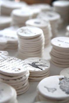 Gift tag salt dough: 1 cup salt, 2 cups all purpose flour, 1 cup luke warm water.