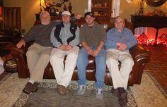 The Sikes men - Clay, Slade, Brett, and Bobby: Christmas 2013.