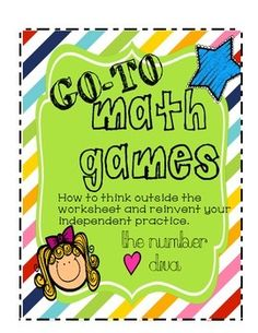 Games for Independent Practice! Five Games that work for any skill FREEBIE ALERT! Best math games ever! This changed my life! Best math games ever! This changed my life! Math Tutor, Teaching Math, Teaching Ideas, Math Stations, Math Centers, Math Resources, Math Activities, Maths Fun, Free Math Games