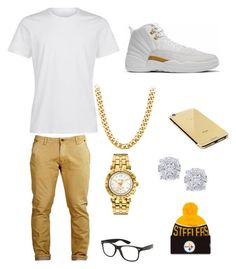 """""""Untitled #8"""" by aniyah-king234 on Polyvore featuring Versace, Effy Jewelry, Goldgenie, men's fashion and menswear"""