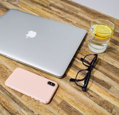 MacBook Pro Design and iPhone X with Ringke Slim Case - Design Flatlay