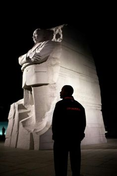 President Barack Obama @ Dr. Martin Luther King Memorial.... #inaug2013