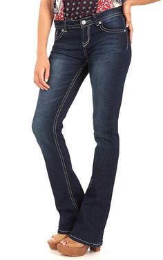 WallFlower Juniors Long Inseam Basic Legendary Bootcut Jeans *** Special  product just for you. See it now! : Fashion