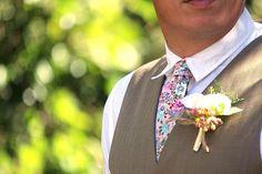 Mens Tie TC035 Pink Floral Handmade Cotton Men's necktie