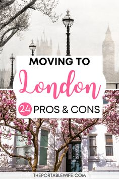 Moving abroad to London? Read these living in London pros and cons before you start your London life. | How to move to London | Moving to London checklist | Moving to UK | British life | Moving to London from US | Moving to UK from Canada | England expat life | Moving to England checklist | Moving to UK from US | #london #expatlife Moving To England, Moving To The Uk, Pros And Cons List, London Life, Like A Local, London Photos, London Travel, British, Canada