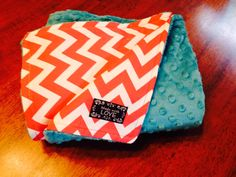 Made it! Hot pink chevron and teal minky...love it! I think Wendy liked it too