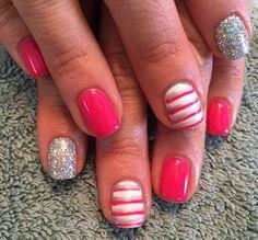 creative nail design shellac gel nails  Nails by Mindy Liberty, MO