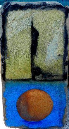 Kelly O'Brien - pastel on on roof slate
