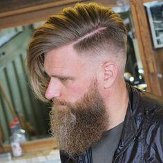 Long Comb Over + Beard