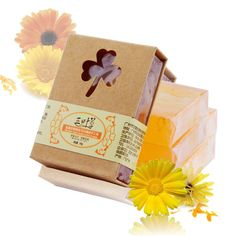 100g Natural Herb Calendula Handmade Soap Anti Allergic Aromatherapy Soap Vegan Soap