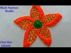 Embroidery  Flower Design [Puntada Fantasía] Embroidery work Fashion Studio, Flower Designs, Embroidery, Make It Yourself, Places, Flowers, Blog, Fantasy, Dots