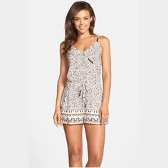 """🎉HP🎉French Connection Surplice Romper 🆕 As per Nordstrom, """"A dainty floral print meets geometric hems on this darling woven romper. The surplice bodice and drawstring waist keep the look cool and sophisticated."""" SO soft, comfortable and cute on! 100% Viscose/Rayon, ~ 21"""" center front length, 2.5"""" inseam. Two small pockets in front. I'm a 2 and it fits perfectly. If you need extra measurements, please ask! Open to *reasonable* offers only! 😊 French Connection Other"""